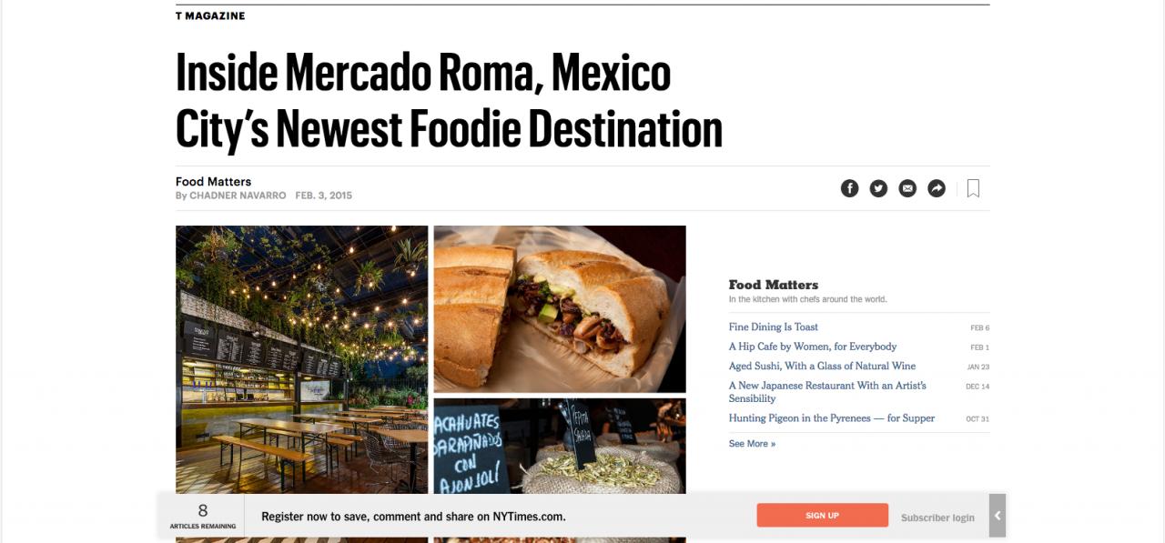 Inside Mercado Roma, Mexico City's Newest Foodie Destination