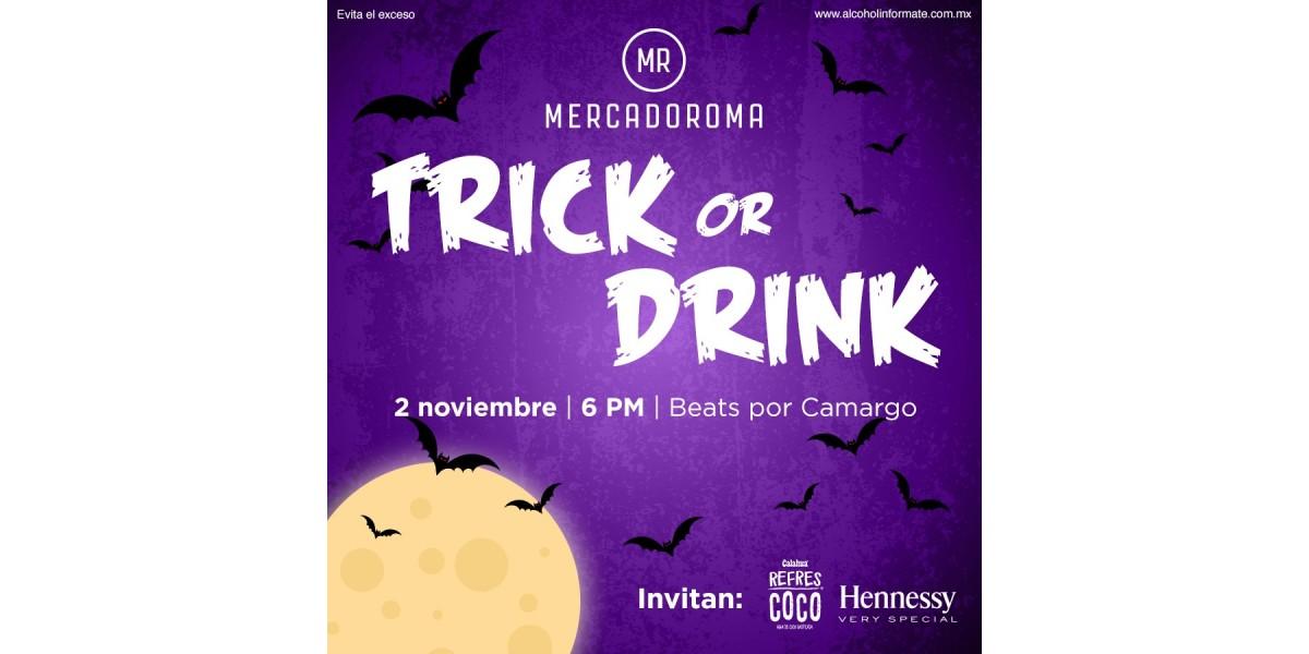 Trick or Drink, para el precopeo en MERCADOROMA